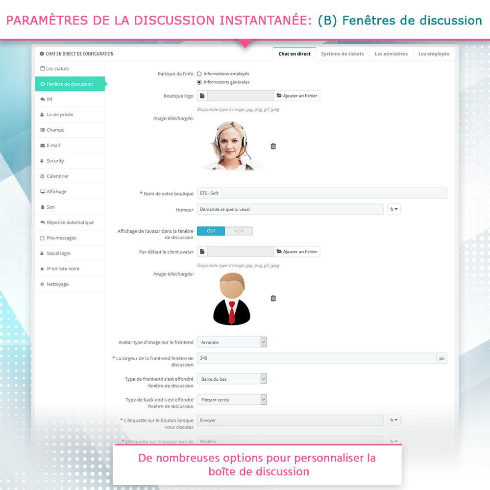 module - Support & Chat Online - Live chat, Formulaire de contact et Système de tickets - 5