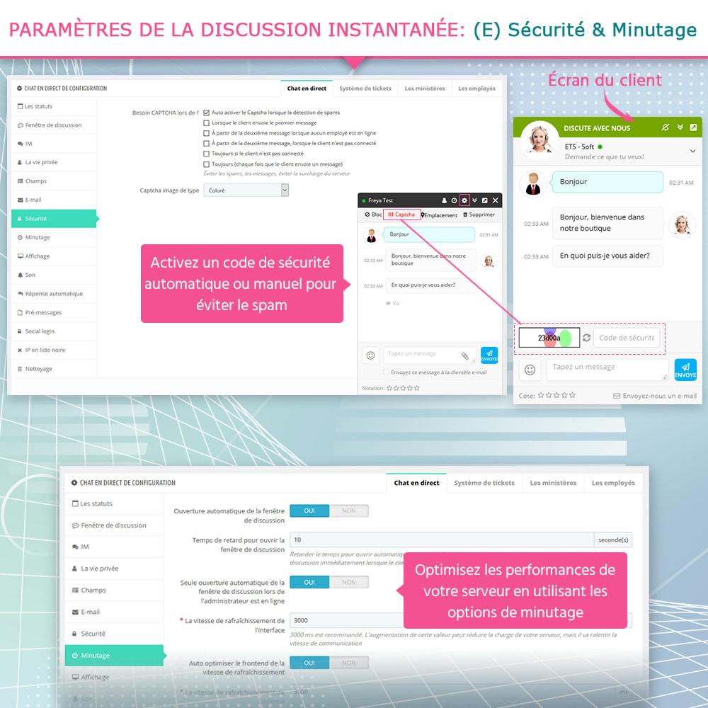 module - Support & Chat Online - Live chat, Formulaire de contact et Système de tickets - 8