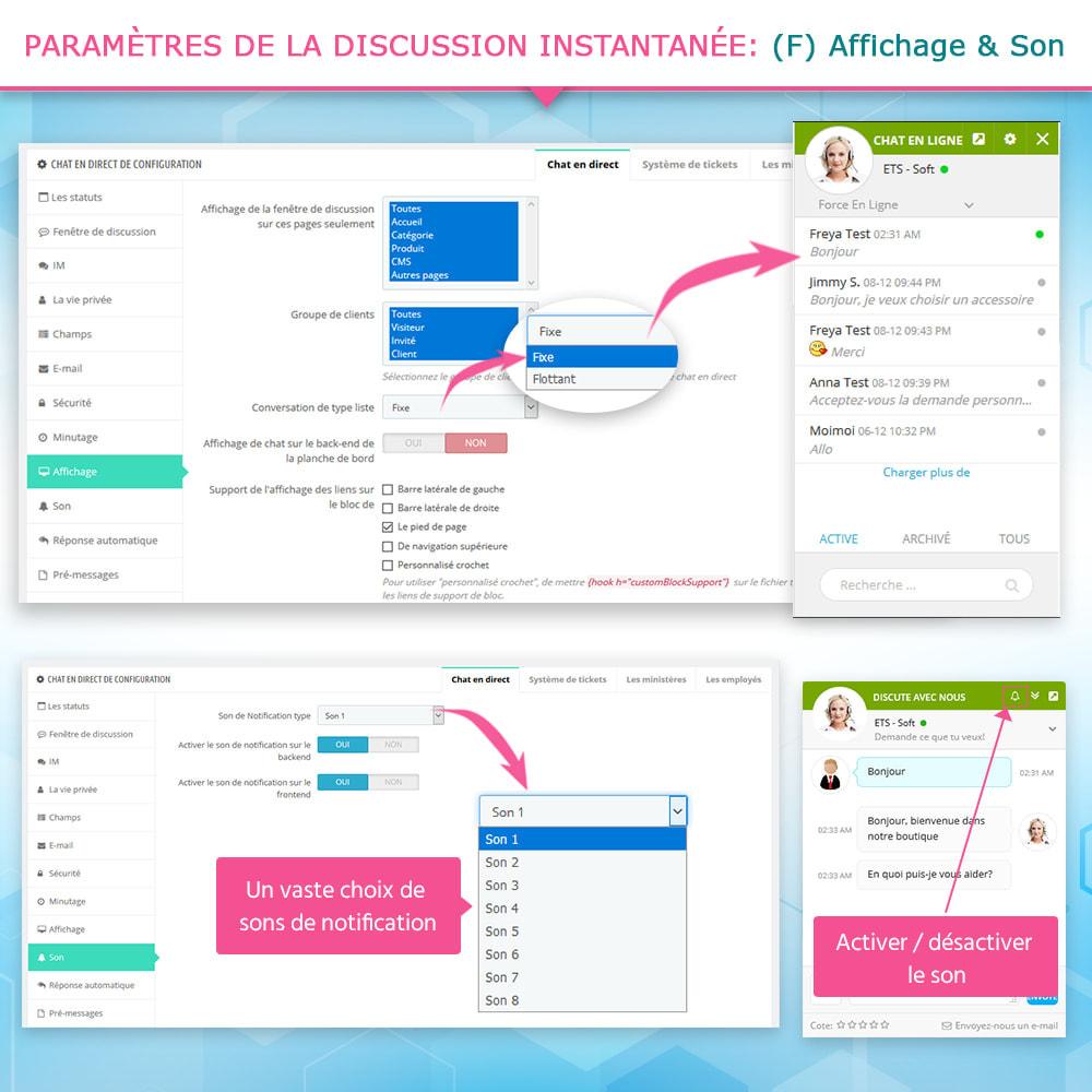 module - Support & Chat Online - Live chat, Formulaire de contact et Système de tickets - 9