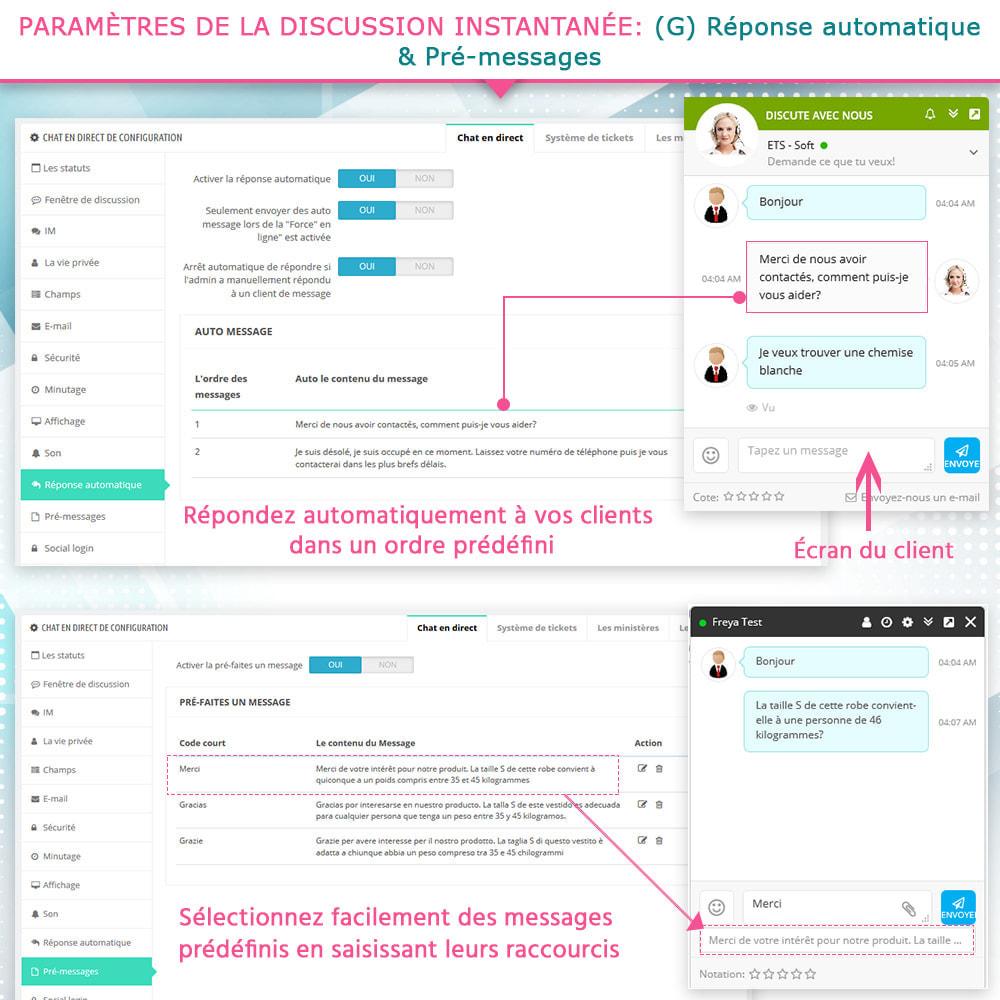 module - Support & Chat Online - Live chat, Formulaire de contact et Système de tickets - 10