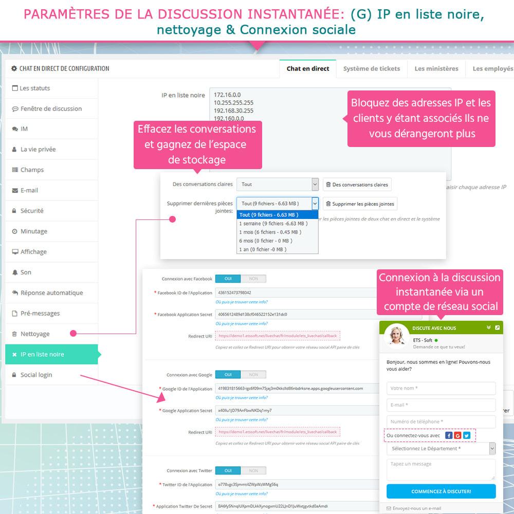 module - Support & Chat Online - Live chat, Formulaire de contact et Système de tickets - 11