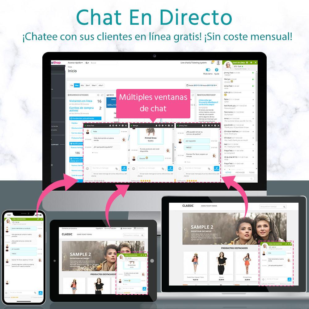 module - Asistencia & Chat online - Live chat, formulario de contacto y sistema de ticket - 1