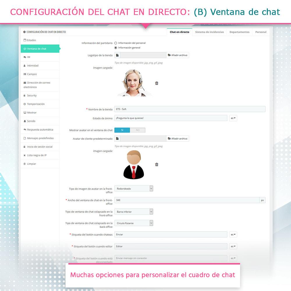 module - Asistencia & Chat online - Live chat, formulario de contacto y sistema de ticket - 5