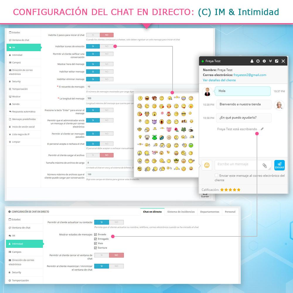 module - Asistencia & Chat online - Live chat, formulario de contacto y sistema de ticket - 6