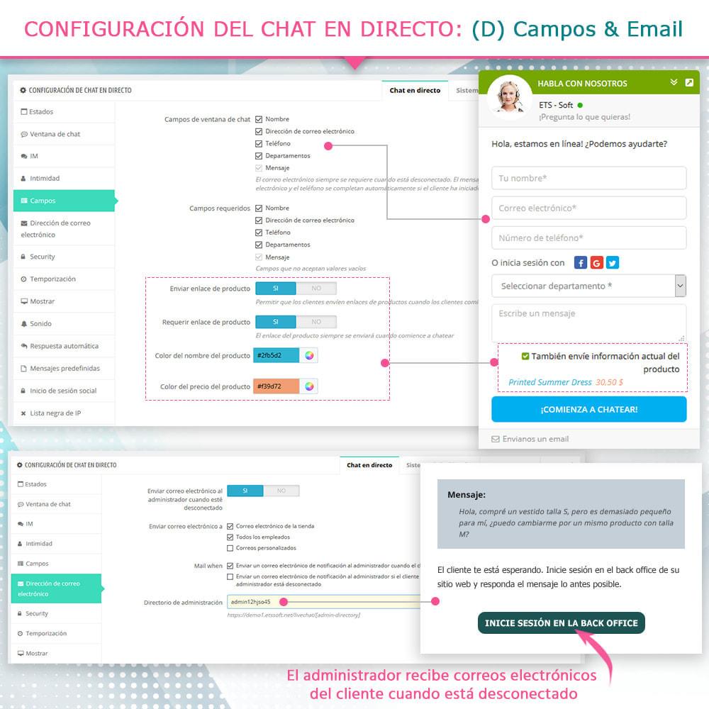 module - Asistencia & Chat online - Live chat, formulario de contacto y sistema de ticket - 7