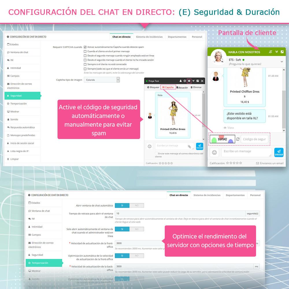 module - Asistencia & Chat online - Live chat, formulario de contacto y sistema de ticket - 8