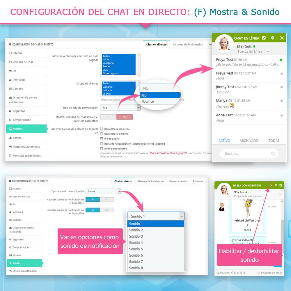 module - Asistencia & Chat online - Live chat, formulario de contacto y sistema de ticket - 9