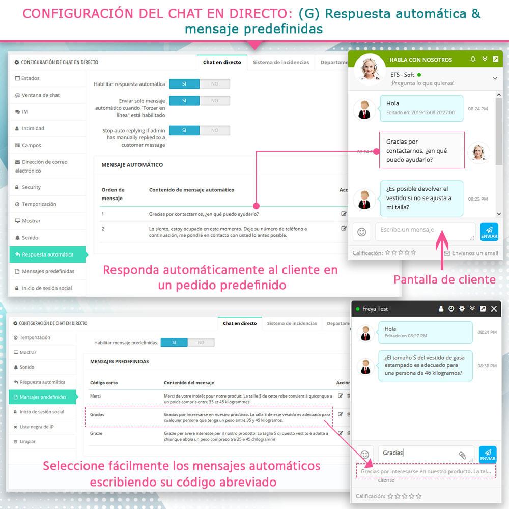module - Asistencia & Chat online - Live chat, formulario de contacto y sistema de ticket - 10