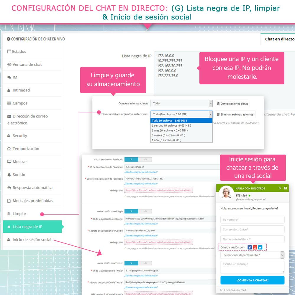 module - Asistencia & Chat online - Live chat, formulario de contacto y sistema de ticket - 11