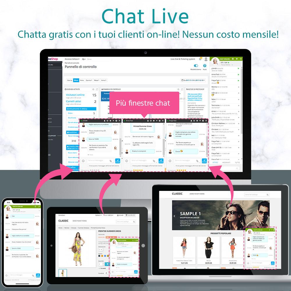 module - Supporto & Chat online - Chat live, modulo di contatto e sistema di ticketing - 1