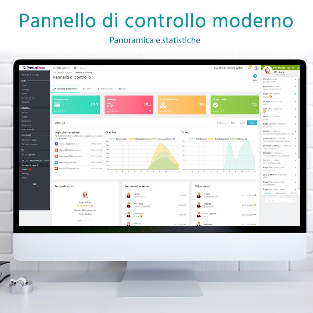 module - Supporto & Chat online - Chat live, modulo di contatto e sistema di ticketing - 3