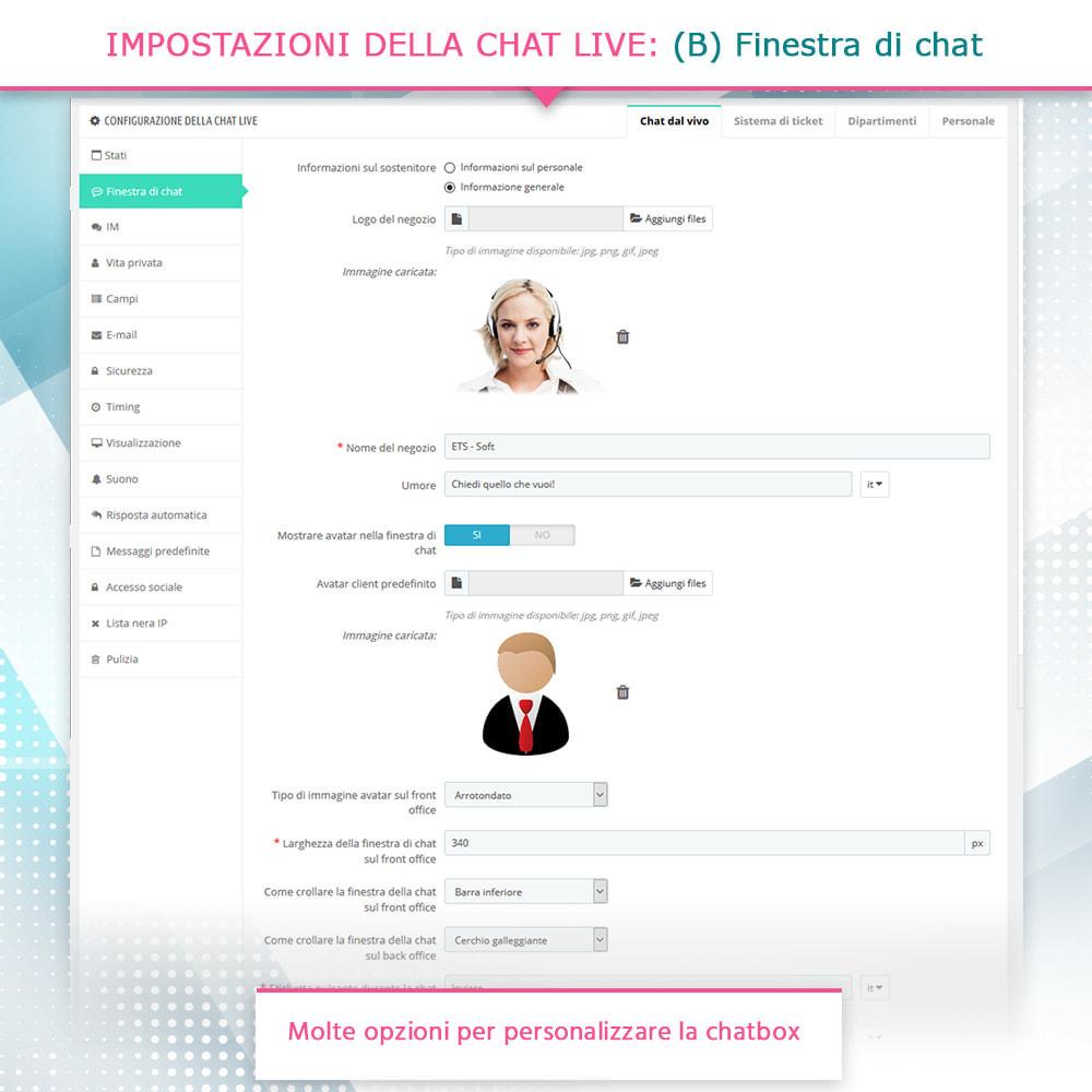 module - Supporto & Chat online - Chat live, modulo di contatto e sistema di ticketing - 5