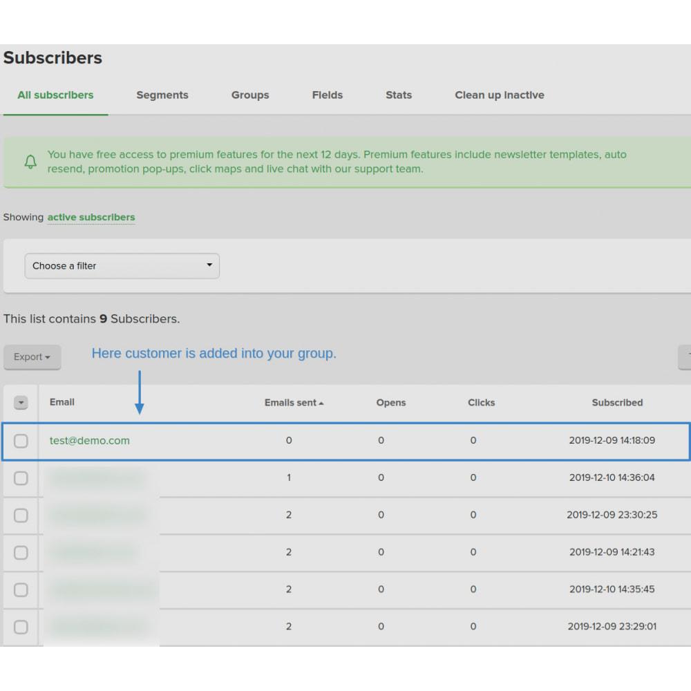 module - Рассылка новостей и SMS - Automatically subscribe MailerLite Subscription - 8