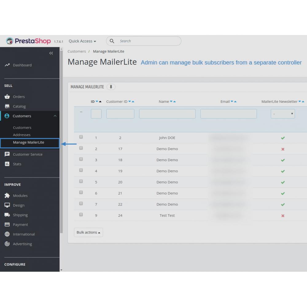 module - Рассылка новостей и SMS - Automatically subscribe MailerLite Subscription - 10