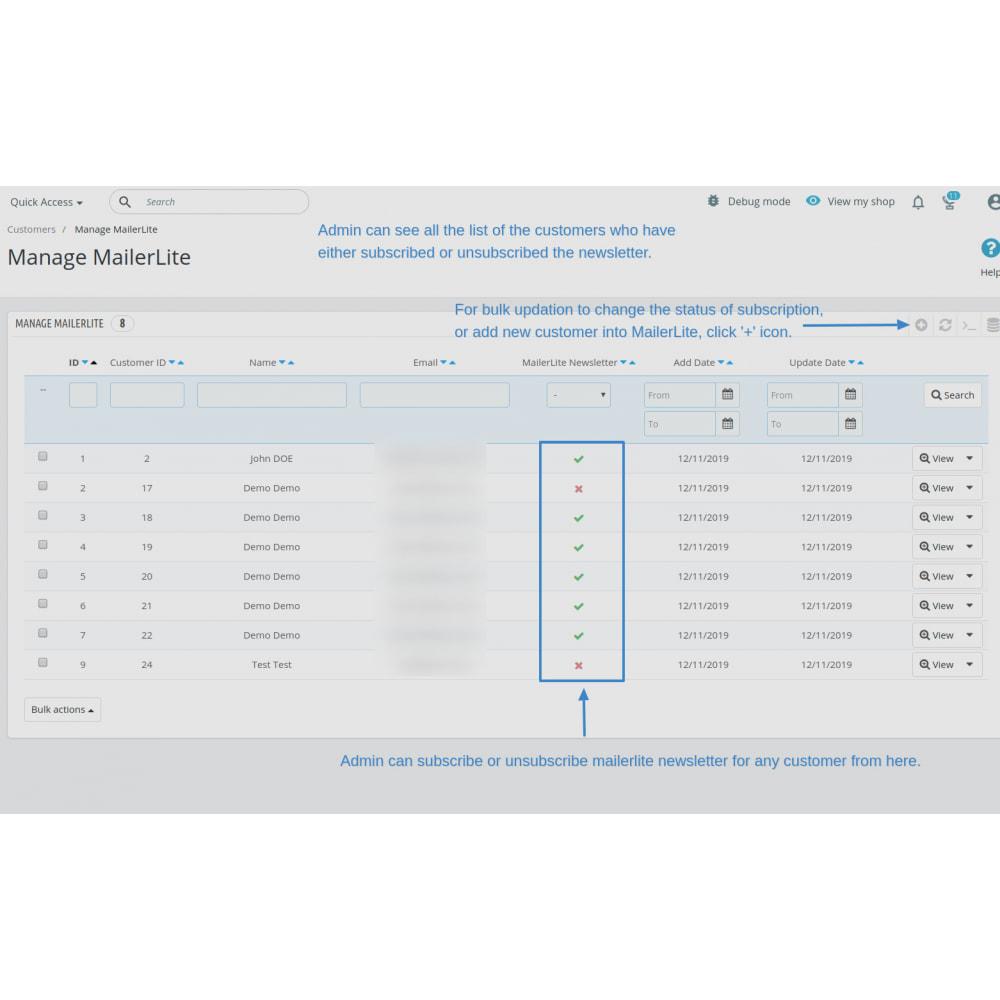 module - Рассылка новостей и SMS - Automatically subscribe MailerLite Subscription - 11