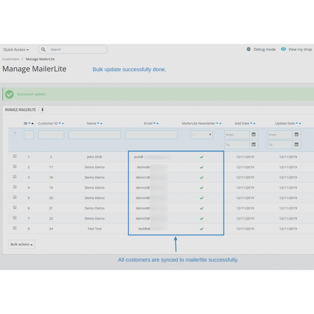 module - Рассылка новостей и SMS - Automatically subscribe MailerLite Subscription - 14
