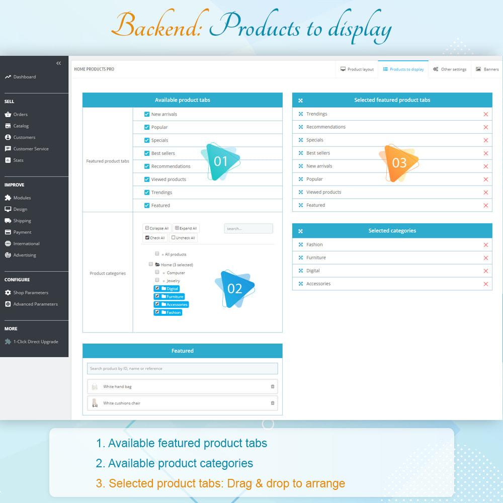 module - Gestão dos Produtos na Página Inicial - Home Products PRO - 7
