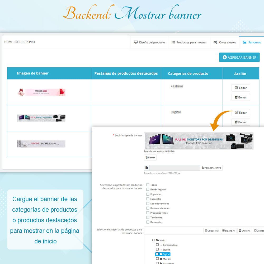 module - Productos en la página de inicio - Home Products PRO - Lista de producto personalizable - 9