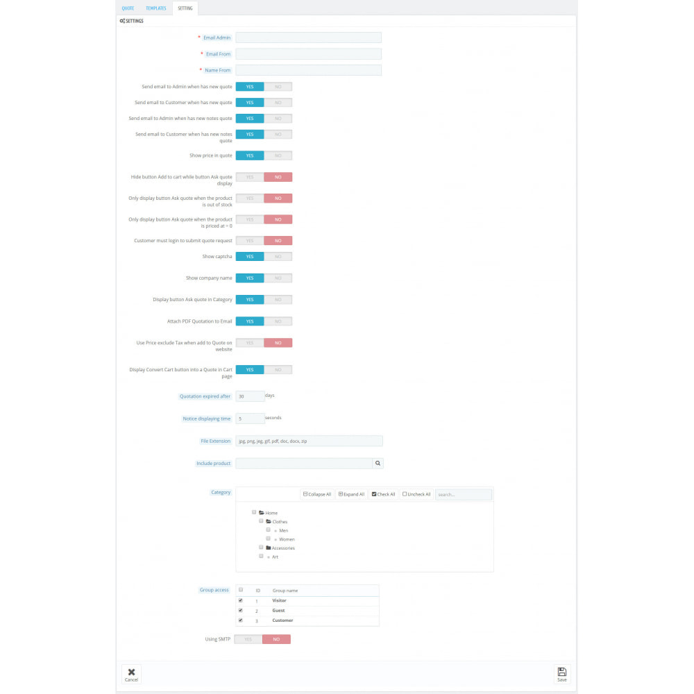 module - Wyceny - Complete for Create a Quote in Frontend + Backend Pro - 15