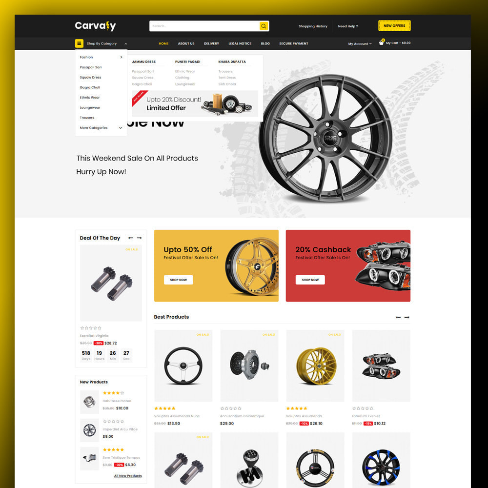 theme - Auto & Moto - Cavaly - Autopart Store - 2