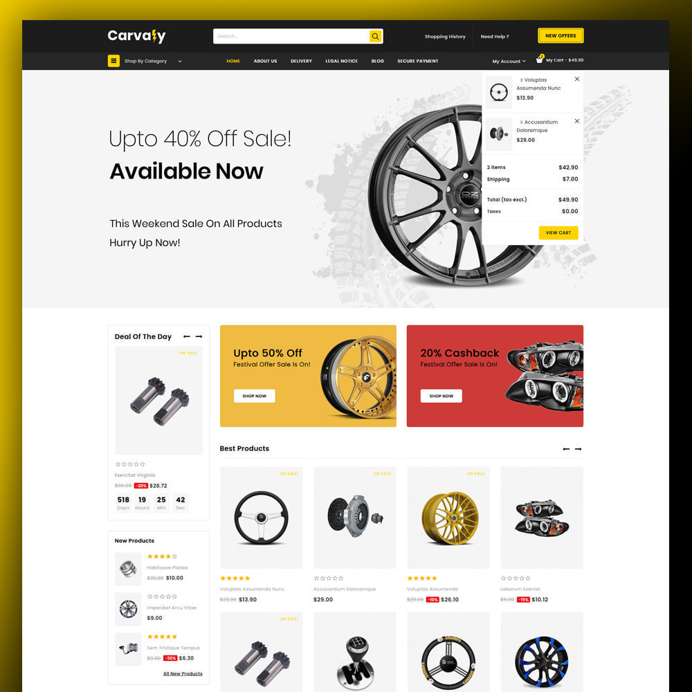 theme - Auto & Moto - Cavaly - Autopart Store - 3