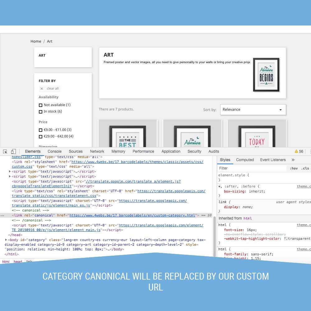 module - Управления адресами URL и перенаправлением - Canonical SEO - 6