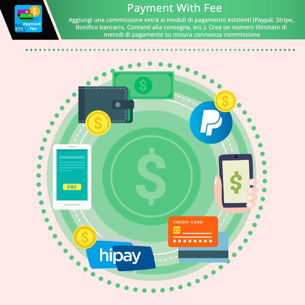 module - Altri Metodi di Pagamento - Payment With Fee: COD, Paypal, Stripe, bonifico, ecc. - 1