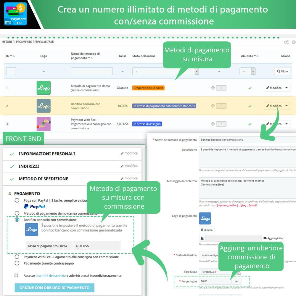 module - Altri Metodi di Pagamento - Payment With Fee: COD, Paypal, Stripe, bonifico, ecc. - 4