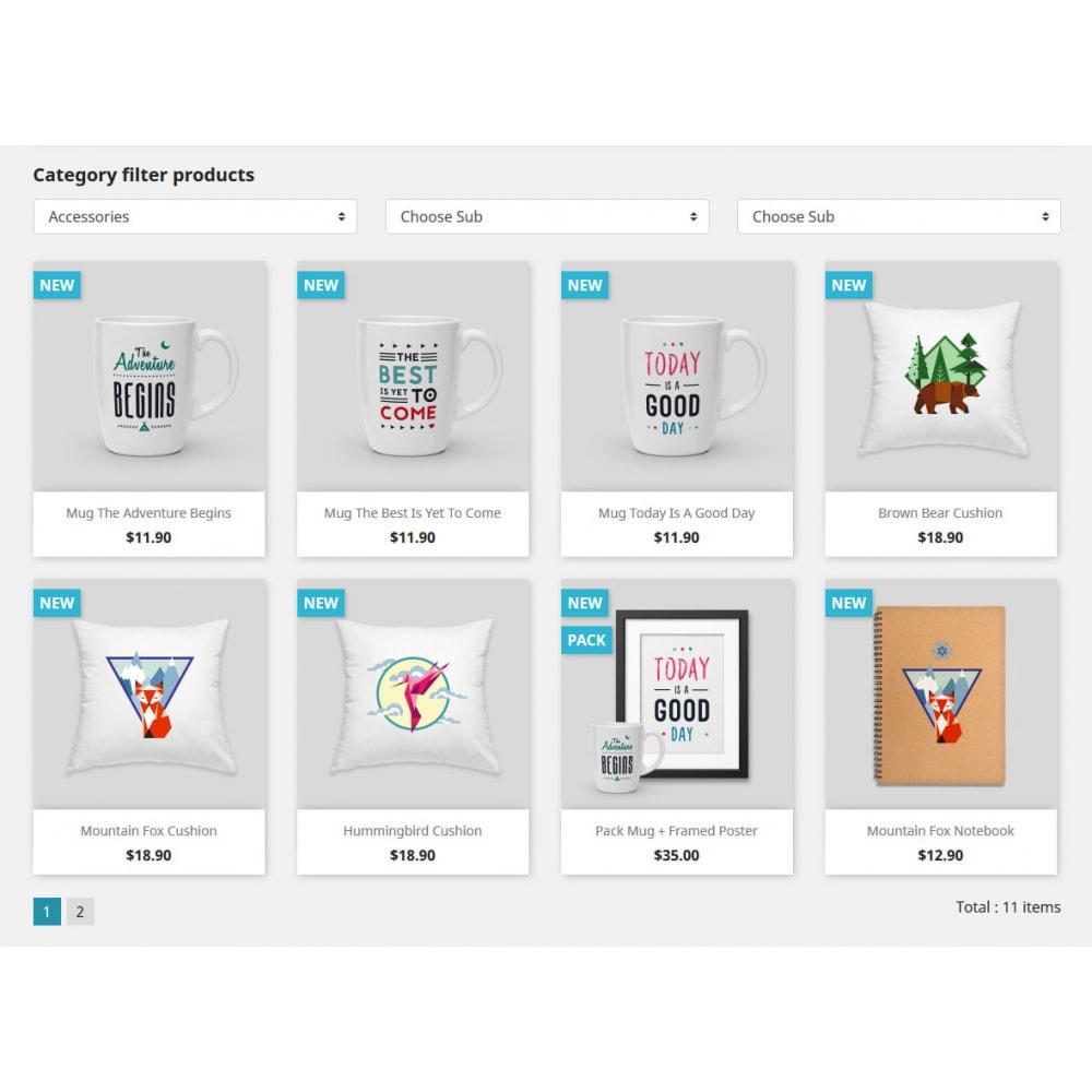 module - Recherche & Filtres - Categories filter products - 1