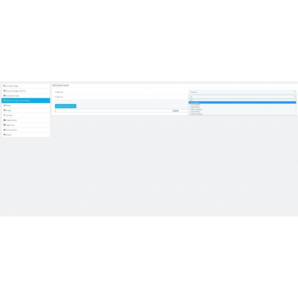 module - Visuels des produits - Image: WebP, Compression, Régénération - 8