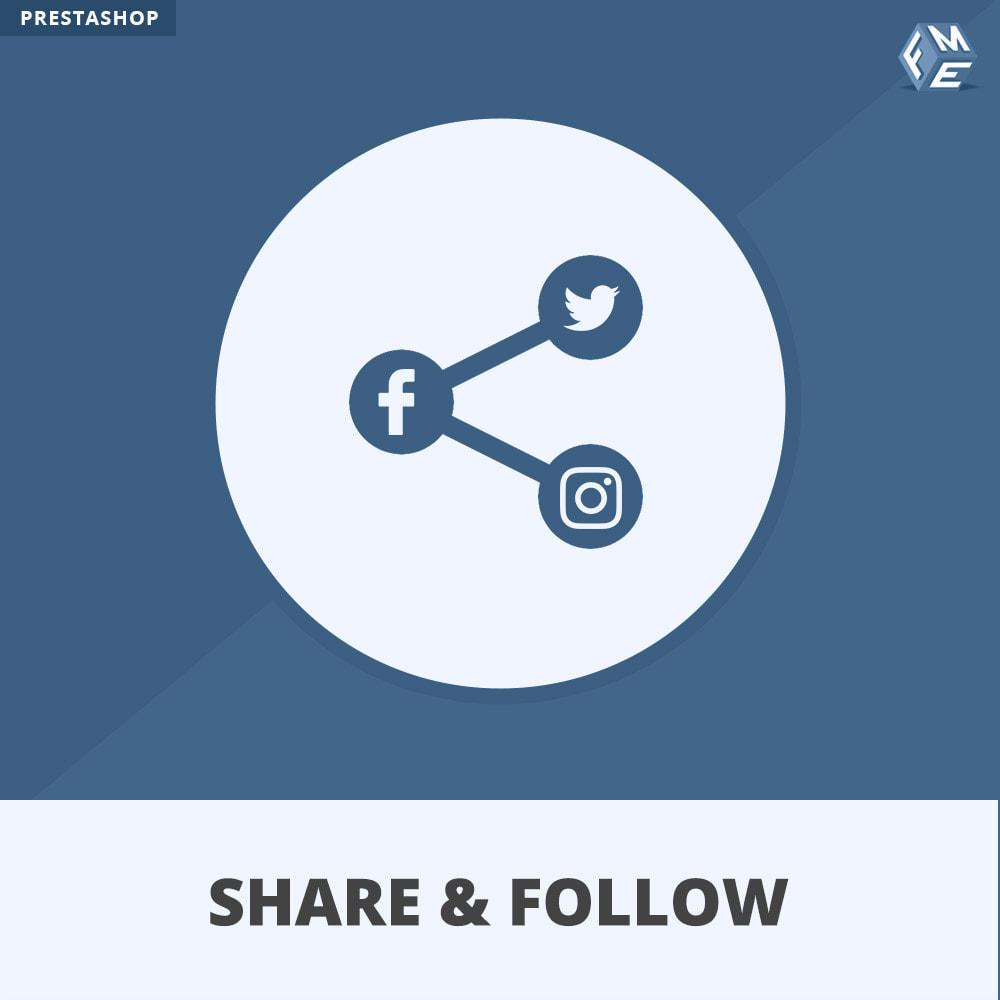 module - Compartilhamento & Comentários - Share and Follow - Social Widget - 1