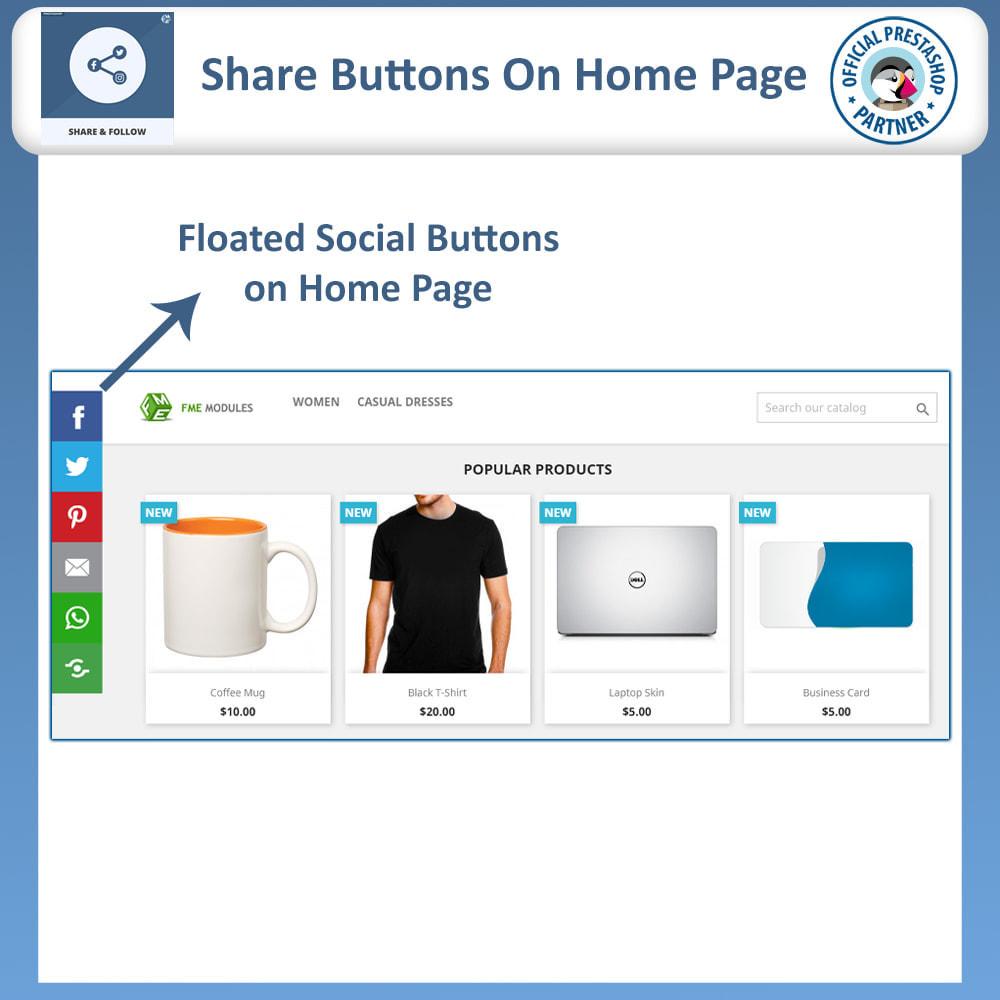module - Compartilhamento & Comentários - Share and Follow - Social Widget - 2