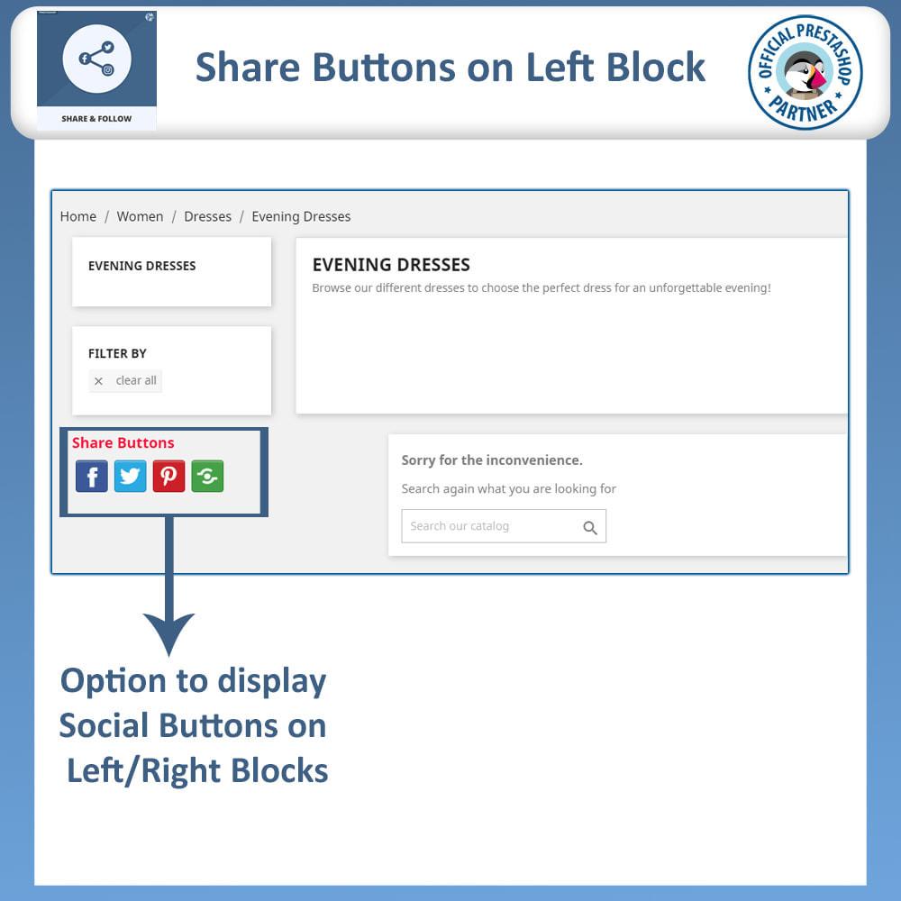 module - Compartilhamento & Comentários - Share and Follow - Social Widget - 3