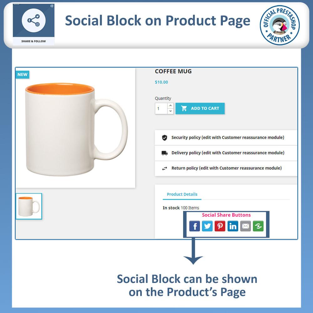 module - Compartilhamento & Comentários - Share and Follow - Social Widget - 4
