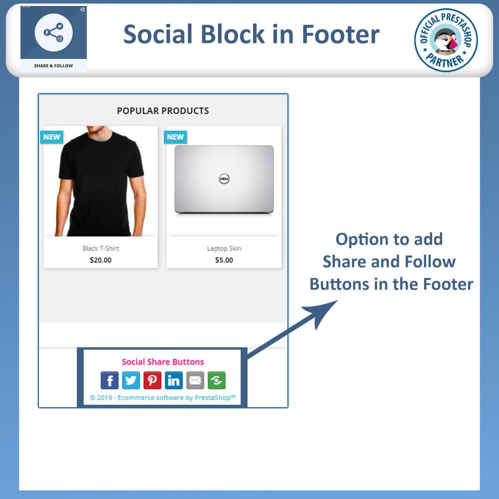 module - Compartilhamento & Comentários - Share and Follow - Social Widget - 5