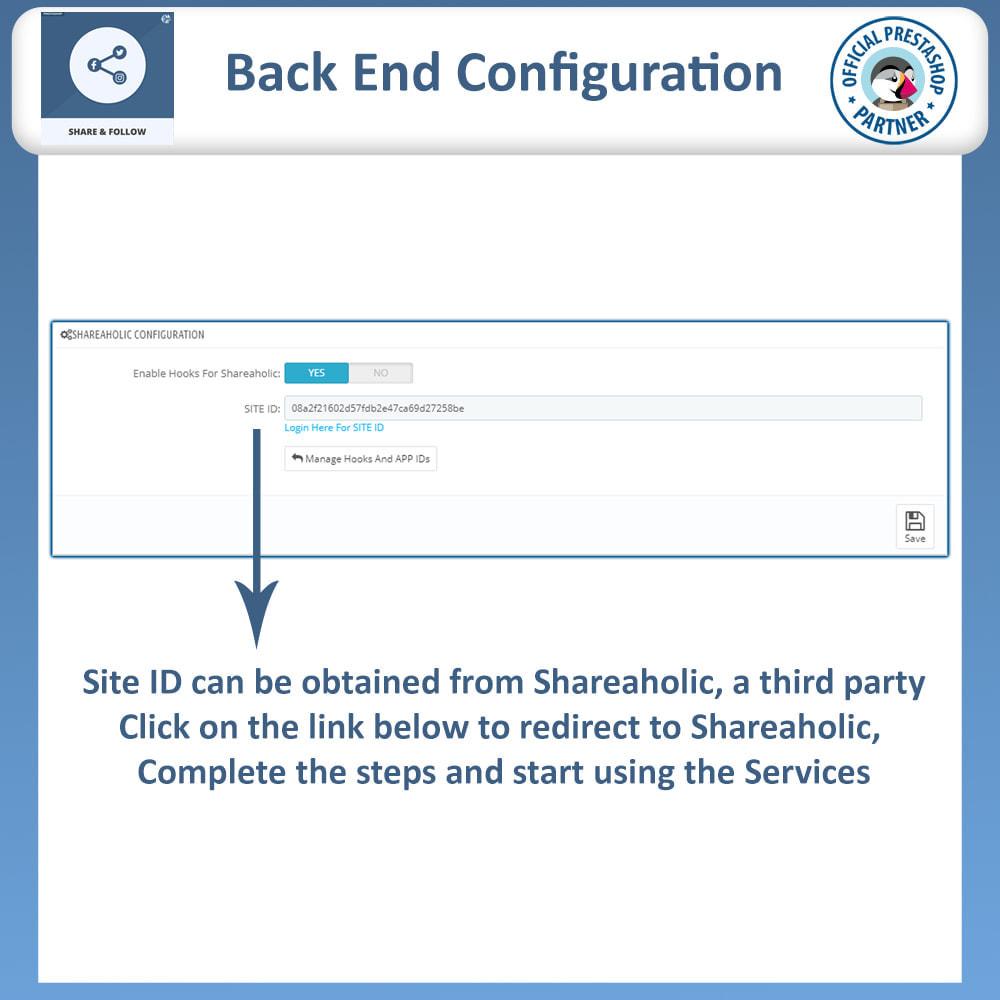 module - Compartilhamento & Comentários - Share and Follow - Social Widget - 6