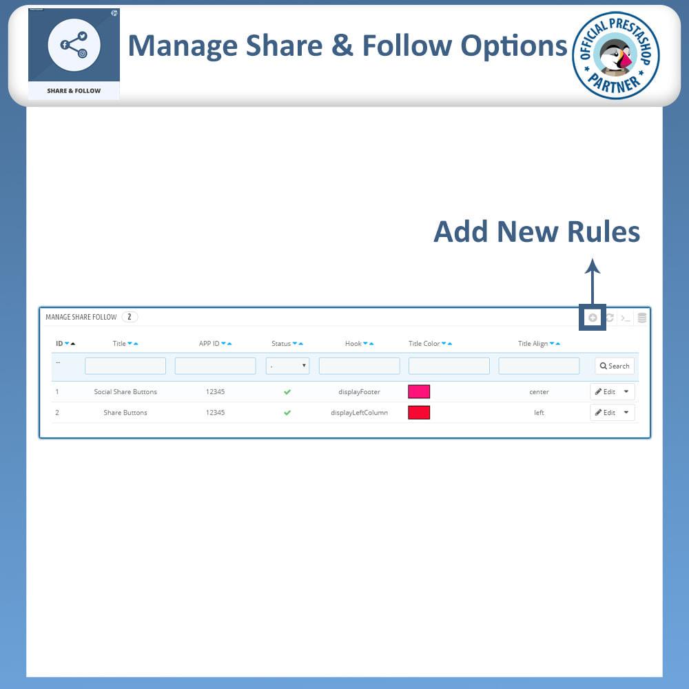 module - Compartilhamento & Comentários - Share and Follow - Social Widget - 8