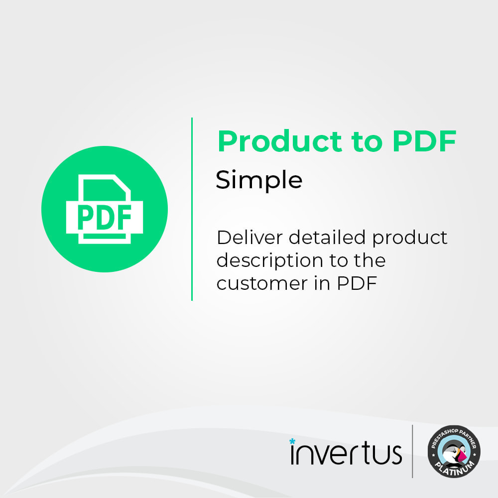 module - Zusatzinformationen & Produkt-Tabs - Product to PDF Simple - view, download, print - 1