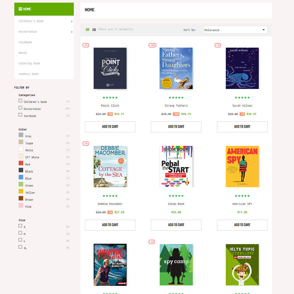 theme - Art & Culture - BookStore - Grocery store - 7