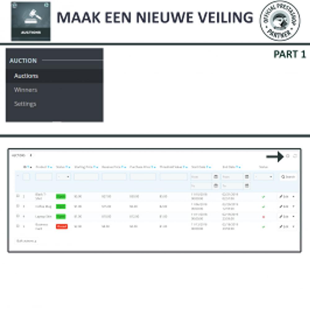 module - Bouw een veilingsite - Auction Pro, Online veilingen en biedingen - 9