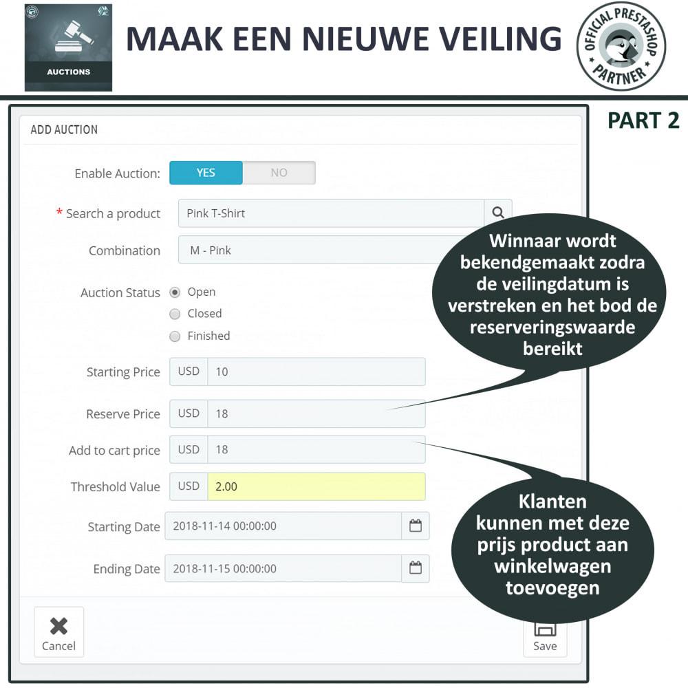 module - Bouw een veilingsite - Auction Pro, Online veilingen en biedingen - 10