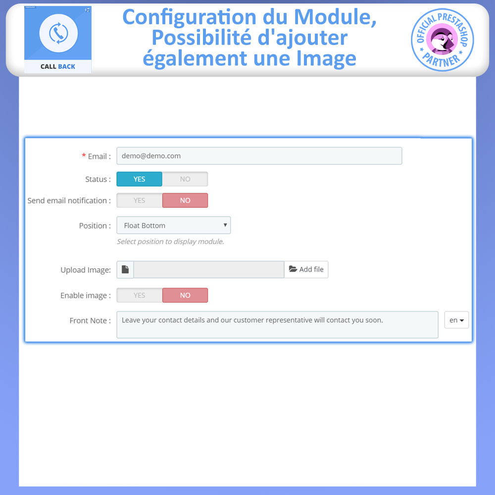 module - Support & Chat Online - Call Back - Fixed & Floating Call Back Form - 5