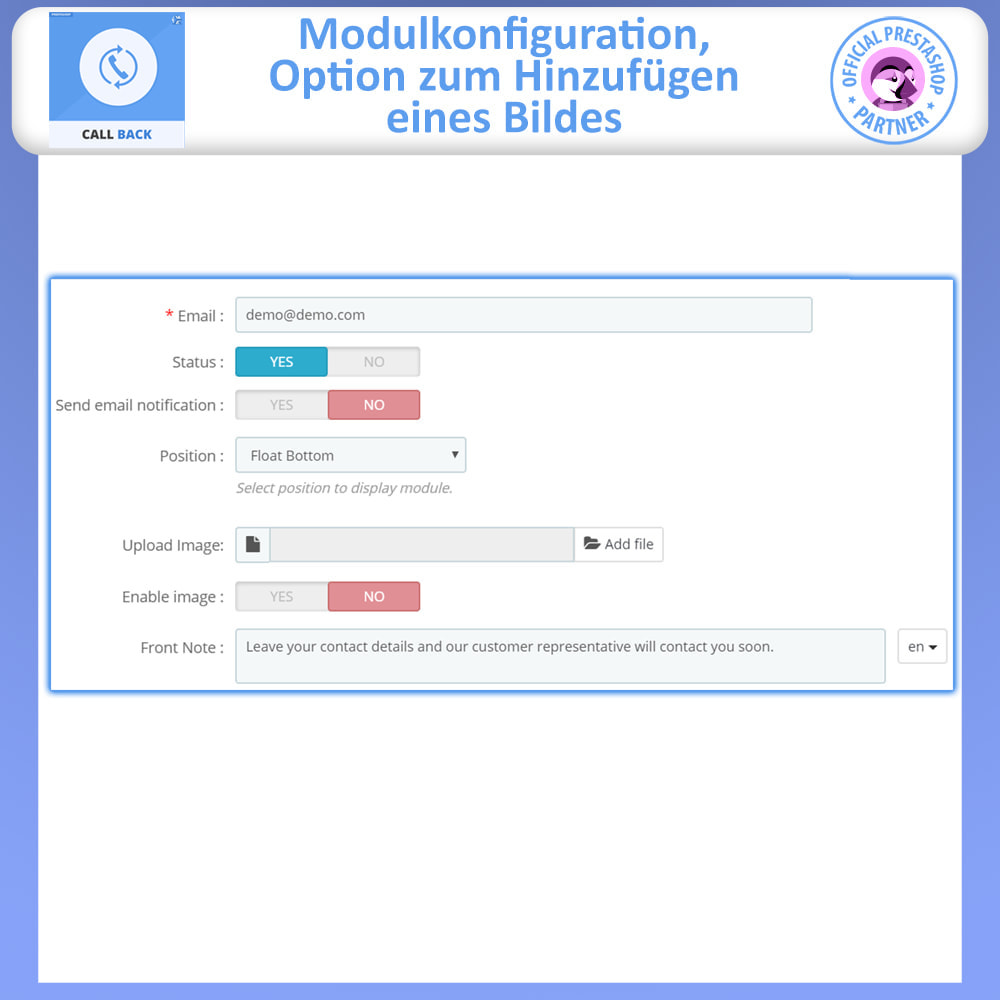 module - Support & Online-Chat - Call Back - Fixed & Floating Call Back Form - 5