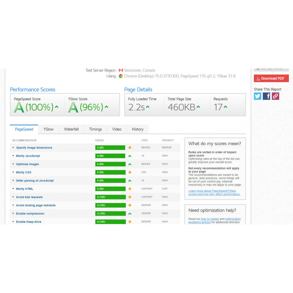 module - Desempenho do Site - Google PageSpeed Insight - Page Speed Optimization - 7