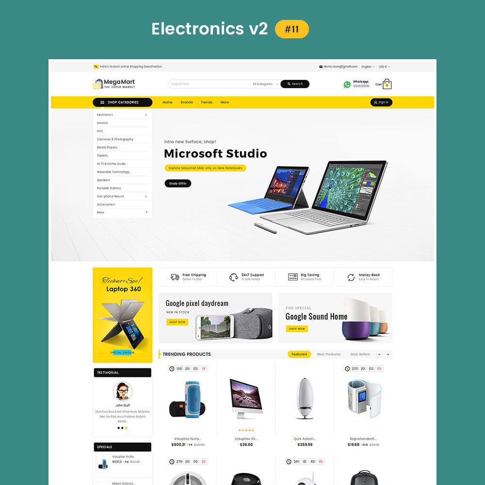 theme - Electrónica e High Tech - Mega Mart - Multi-Purpose Store - 12
