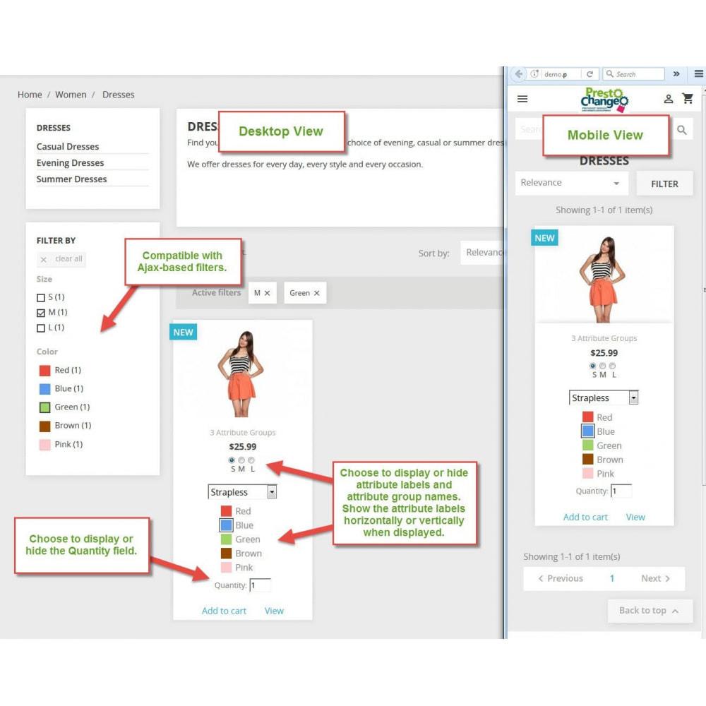 module - Deklinacje & Personalizacja produktów - Product List Attributes - 2