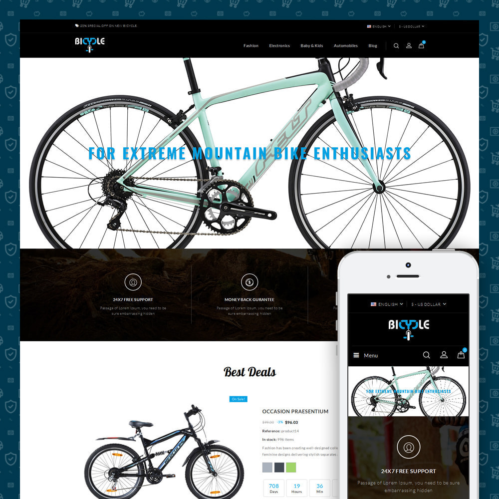 theme - Automotive & Cars - Bicycle Store - 1