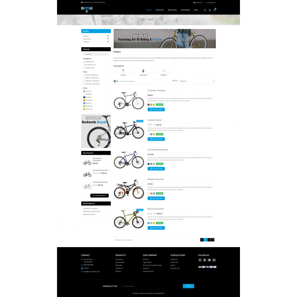 theme - Automotive & Cars - Bicycle Store - 4