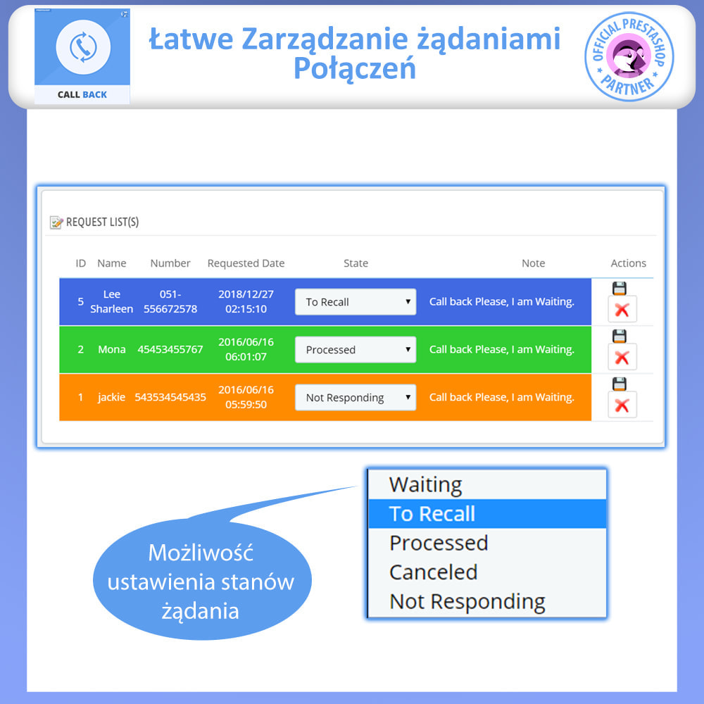 module - Wsparcie & Czat online - Call Back - Fixed & Floating Call Back Form - 4