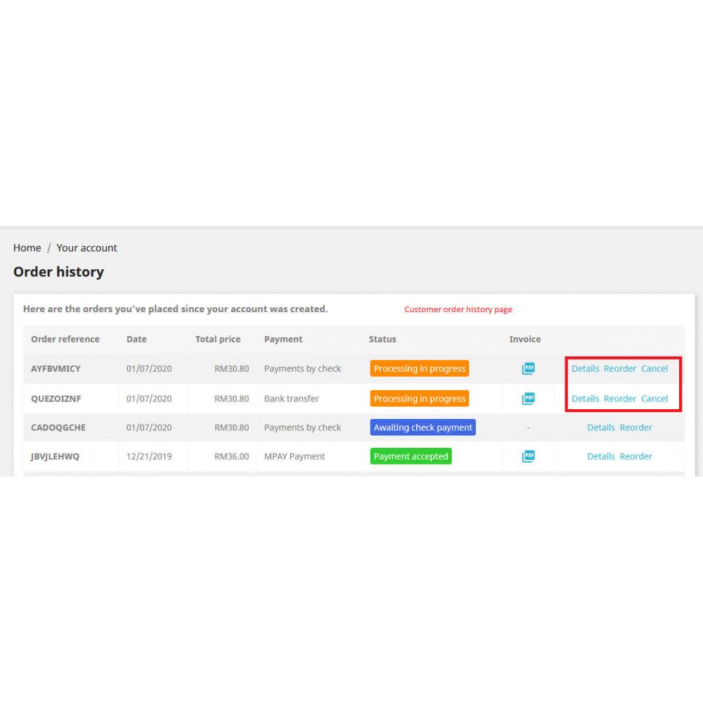 module - Anmeldung und Bestellvorgang - Cancel Order - 4
